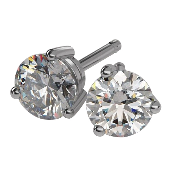 Diamond Stud Earrings by Lakeshore Collection